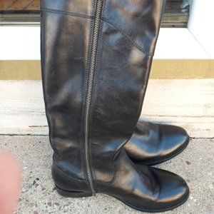 FRYE Melissa Button Black Tall Riding Boots